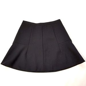 J. Crew | Black Flare Mini Skirt